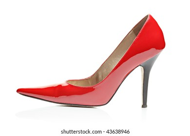 High heel isolated on white background
