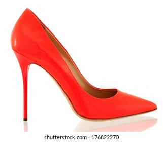 high heel on white background
