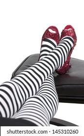 High heel stileto ruby shoes or slippers
