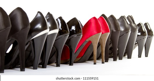 High heels in different colors,