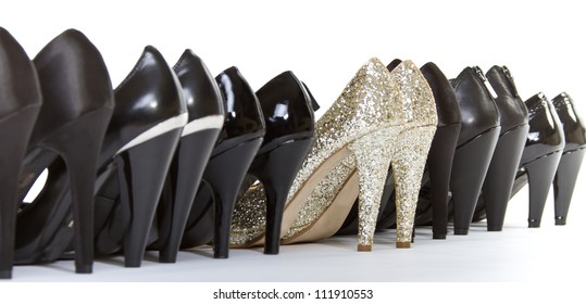 High heels in different colors
