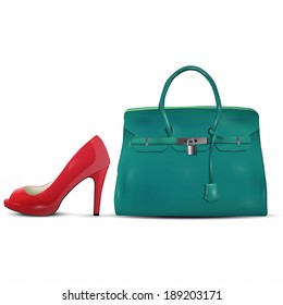 High Heels And Hand Bag