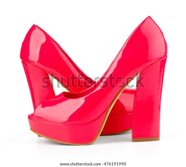 62cc929f3c1 High Heels Inner Platform Sole Red Stock Photo (Edit Now) 476191990