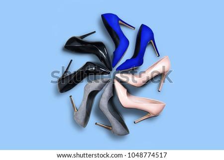 High heels Top view
