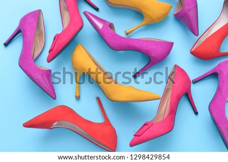 091472d3a9b High Heels Top View Different Colors Stock Photo (Edit Now ...