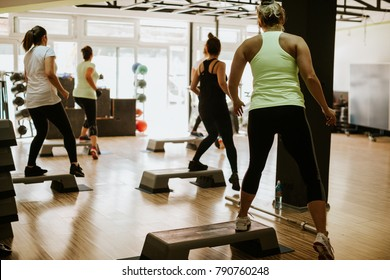 High intensity interval training workout. Hiit group training