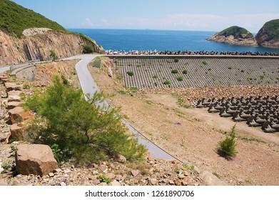 High Island Reservoir dam in Hong Kong, China.