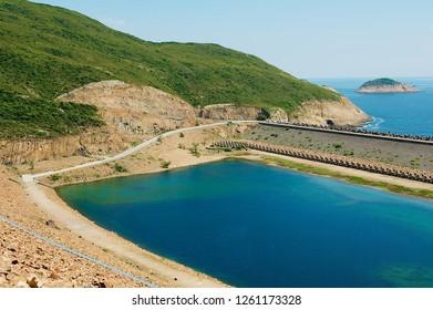 High Island Reservoir in Hong Kong Global Geo Park of China in Hong Kong, China.