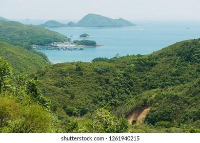 High Island Reservoir and Hong Kong Global Geo Park of China in Hong Kong, China.