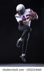 High jump of American Football Player, collage.