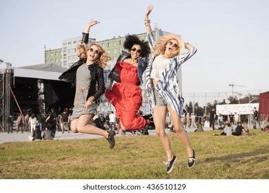 High jump at the festival