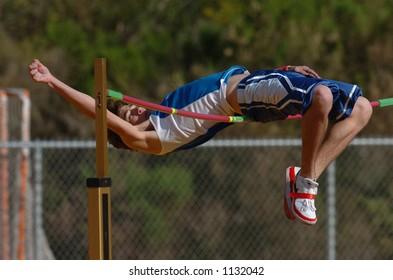 high jump at track meet
