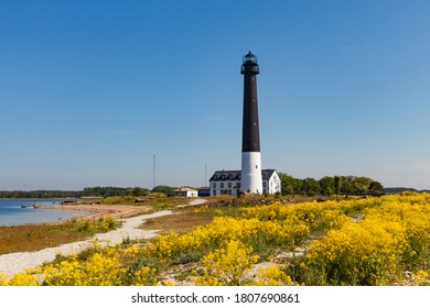 High lighthouse Sorve is the most recognizable sight on Saaremaa island in Estonia