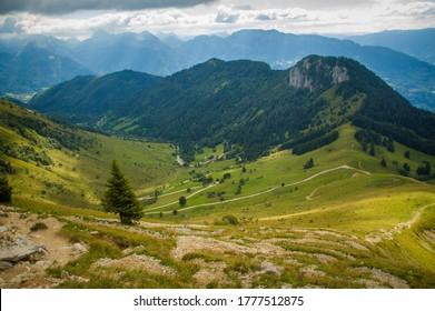 A high mountain alpine valley.