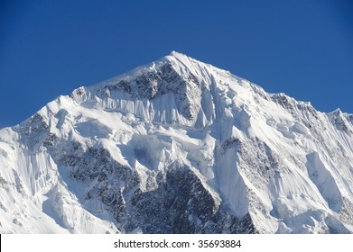 High Mountain with Fluted Face