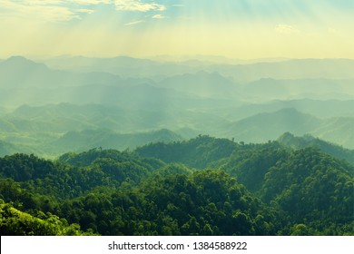 High mountain in morning time. Beautiful natural landscape - Shutterstock ID 1384588922