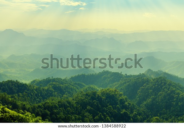 High mountain in morning time. Beautiful natural landscape