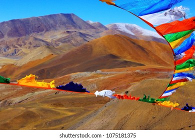 high mountain pass in Tibet mountain landscape