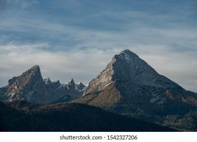 "High mountain peak of German mountain ""Watzmann"" in Germany - Bayern"