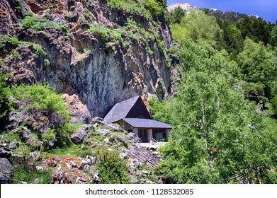 High mountain refuge in the top of the Aigues Tortes National Park in the Spanish Pyrenees.