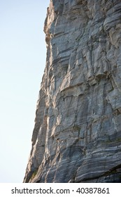High mountain rock face