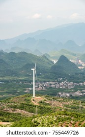 High mountain wind turbines produce green energy