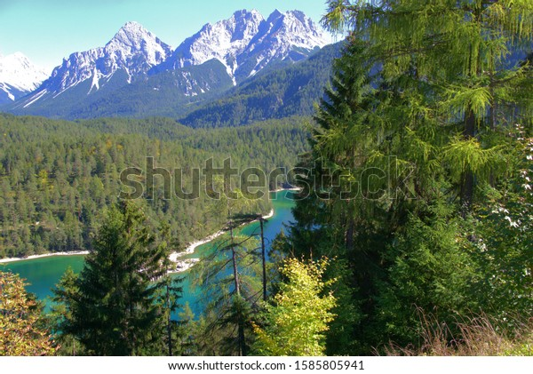 high mountains in austrian alps