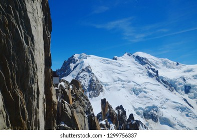 High mountains with snow