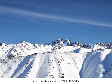 High mountains with snow and peak Talgar in Northern Tien Shan, Kazakhstan
