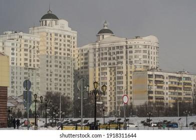 high-multistorey-building-snowy-weather-