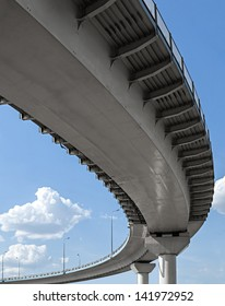 High overpass on the sky background