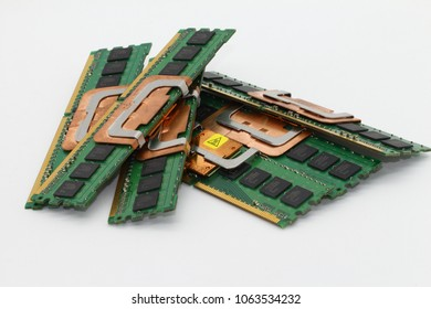 High performance DDR RAM memory module isolated on white background