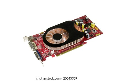high performance video card or GPU isolated on white with logos removed