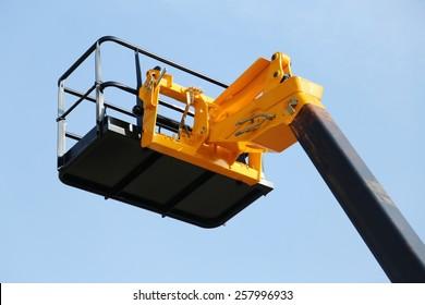 high platform for industrial work in elevation safely