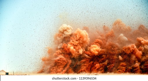High power explosion after detonator blasting