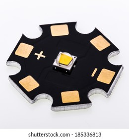 High Power SMD LED Assembled on Aluminium Star PCB, Commercial and Industrial LED Light Production, DIY Projects, LED Chip