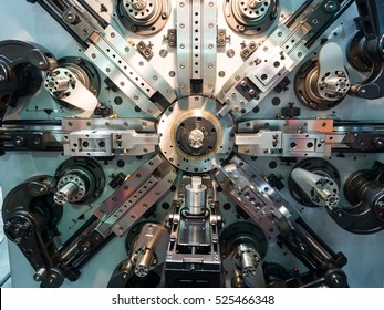 High precision automotive and industrial spring making machine