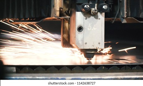 High precision CNC laser cutting metal sheet. Clip. Modern technologies allow to receive high-precision parts. Programmable machines operate efficiently and without the exemption