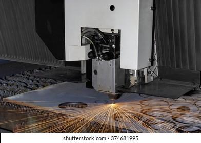 High precision CNC laser cutting metal sheet