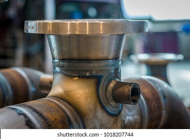 High pressure pipes welded to fittings
