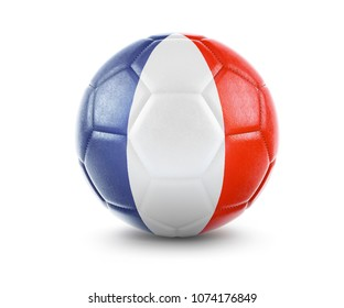 High qualitiy rendering of a soccer ball with the flag of French Guiana.(series). 3D  rendering.