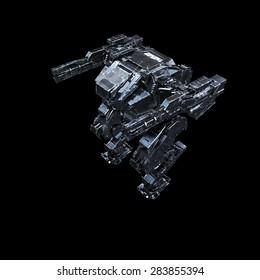 High quality 3d render of battle robot
