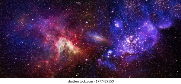 High quality background space. Space many light years far from the Earth. Elements of this image furnished by NASA - Shutterstock ID 1777429553