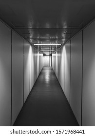 High Quality Image of an Empty Aviobridge or Jet Bridge Corridor