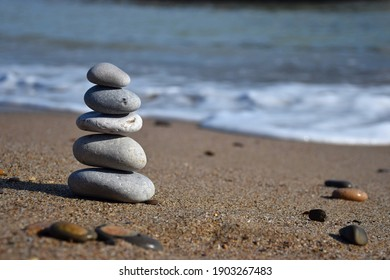 High quality image. Photograph of some stones in balance. Image of calm and balance.