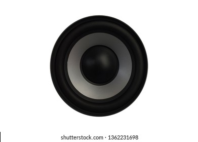 High quality loudspeakers.Hi fi sound system in shop for sound recording studio.Professional hi-fi cabinet speaker box.Audio equipment for record studios.Subwoofer with speakers.