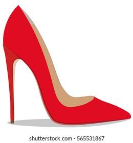 High quality original trendy  illustration of realistic ladies shoe.