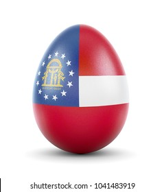 High quality realistic rendering of an glossy egg with the flag of Georgia.(series)