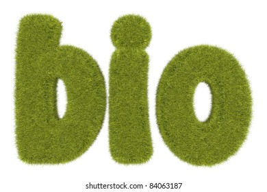high quality rendering of word with grassy