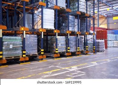 High rack shelving in distribution centre